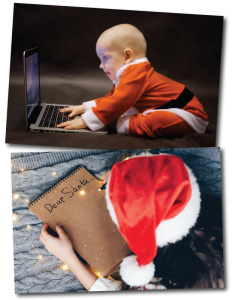 Send your wish lists and letters to Santa Claus